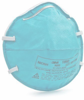 3M Health Care Particulate Respirator and Surgical Mask, 1860, N95